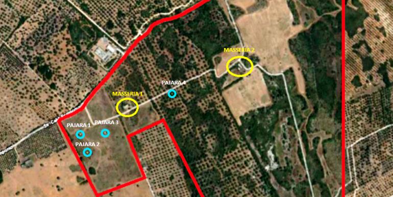 mappa satellite Tenuta Lecce s.ligorio modificata ritagliata